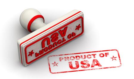 Product of USA. Seal and imprint Standard-Bild - 124623823