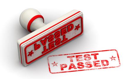 Test passed. Seal and imprint Standard-Bild - 124623832