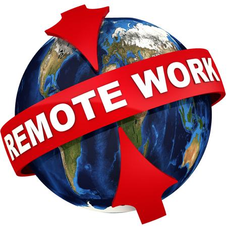 Remote work icon Standard-Bild - 124623708