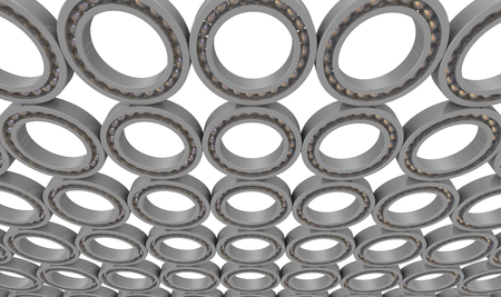 Rolling bearings or pillow-blocks. The background