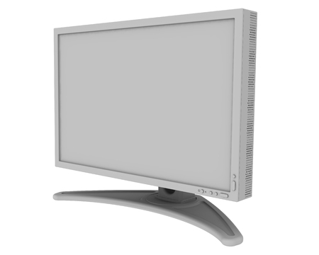Monitor with blank screen Standard-Bild - 124623261