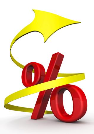 Interest rate rising 写真素材