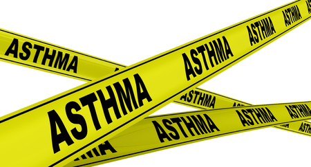 Asthma Yellow warning tapes