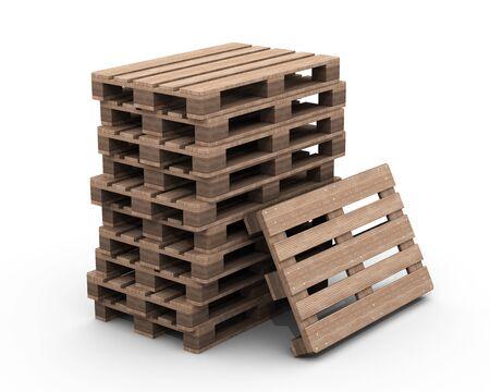 Gruppe von Holzpaletten