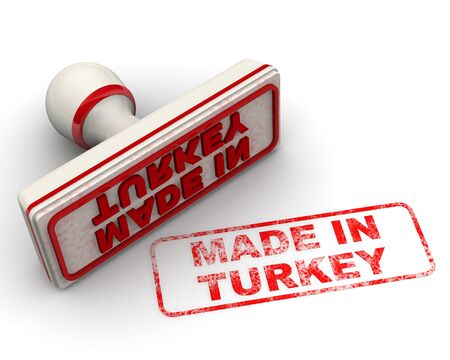 Made in Turkey. Seal and imprint