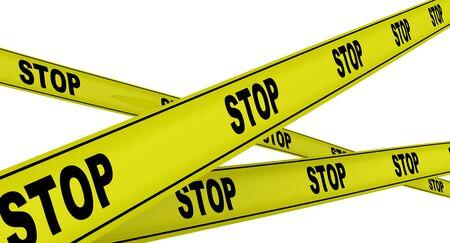 Stop Yellow warning tapes