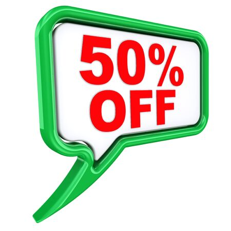 Discount of fifty percentage