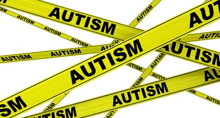 Autism. Yellow warning tapes