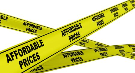 Affordable prices. Yellow signal tapes