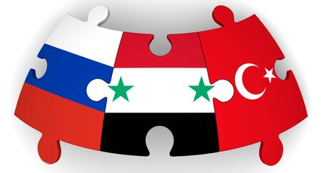 Cooperation of Russia, Syria and Turkey Banco de Imagens