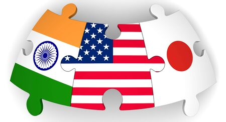 Cooperation of USA, Japan and India Banco de Imagens