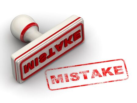 Mistake Seal and imprint Stockfoto