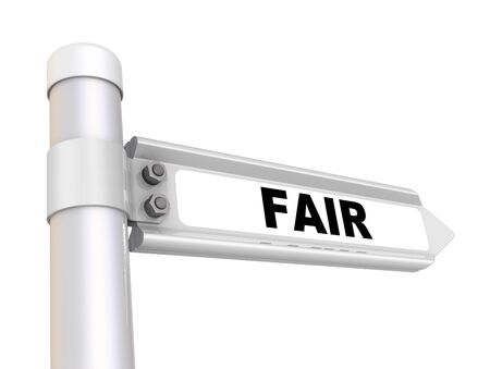 Fair The road sign Stock Photo