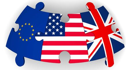 Cooperation of USA, UK and EU Banco de Imagens