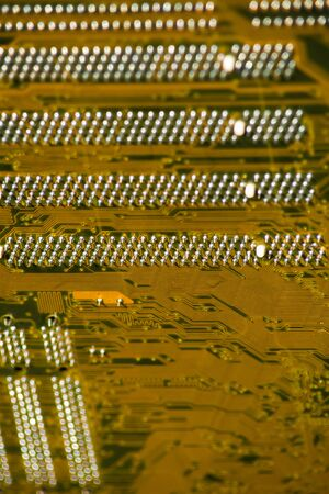 Close-up multilayer electronic circuit board