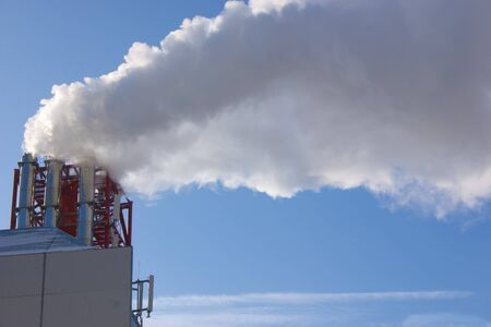 Pipes with white smoke