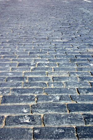 Paving stones on the Red Square of the city of Moscow
