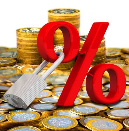 Fixed interest rate Stock Photo