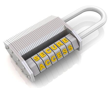 Secure access Combination padlock