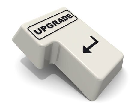 The enter key is marked with the word UPGRADE
