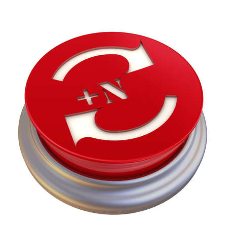 Round button with update symbol Banque d'images