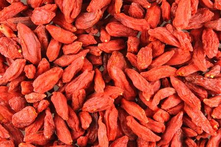 barbarum: dried goji berries closeup as a food background texture Stock Photo