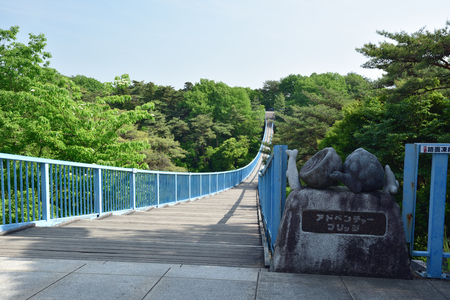 Hachimanyama park adventure bridge 報道画像