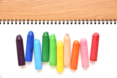 Crayons and sketchbooks
