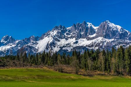 tirol: Wilder Kaiser Mountains Sankt Johann in Tirol Stock Photo