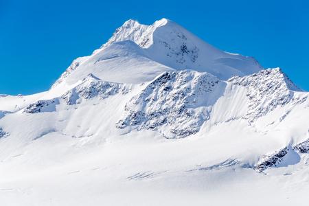 The Wildspitze peak, mountain covered with snow, Oetztal Alps, Tirol, Austria