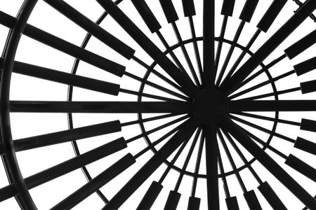 Abstract architectural detail of a globular skylight