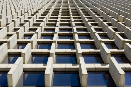 curvature: Abstract texturebackground photo of architectural pattern that creates an optical illusion