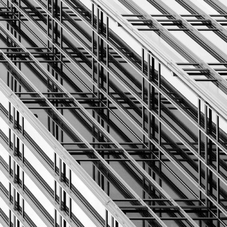 Slanted Modern Architecture Abstract