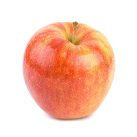 Semi-dwarf Jonagold apple (malus x domestica) set against a white background with shadow