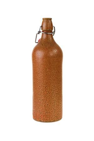 Clay Beer Bottle Stock fotó