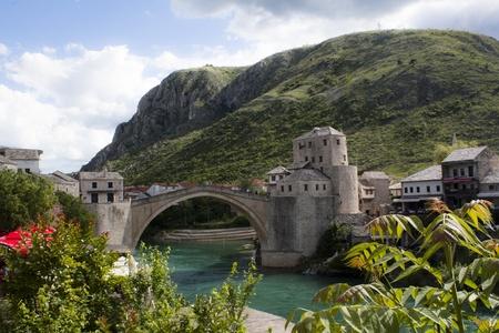 hercegovina: Mostar bridge, Bosnia and Hercegovina Stock Photo