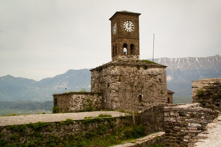Clock tower in the castle of Gjirokaster