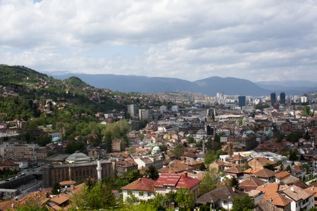 View over Sarajevo, Bosnia and Hercegovina photo