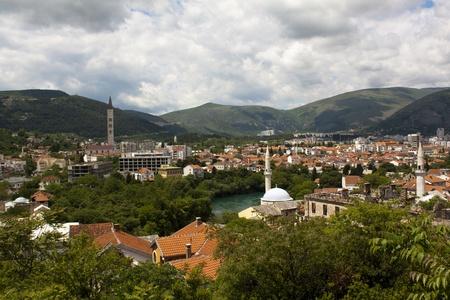 View over Mostar, Bosnia and Hercegovina photo