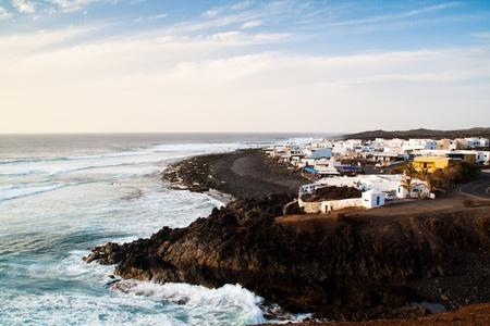 golfo: View over El Golfo, Lanzarote