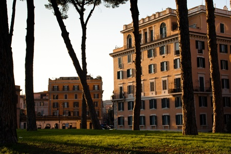 Houses in the city of Rome, Italy photo