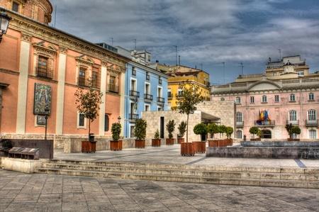 valencia: Square in Valencia, Spain Stock Photo