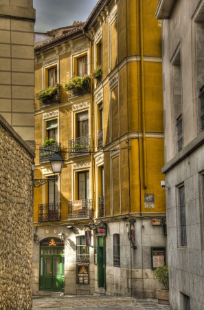 View from a street in Madrid, Spain