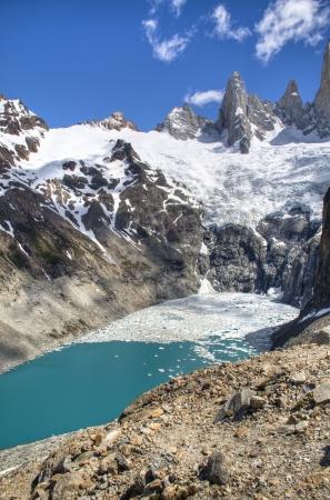 chalten: Lake at the Fitz Roy mountain in El Chalten, Argentina