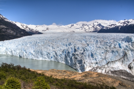 View over the Perito Moreno glacier in El Calafate, Argentina