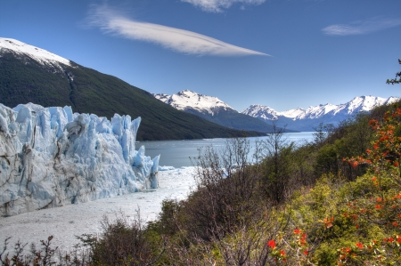 View over the Perito Moreno glacier in El Calafate, Argentina photo