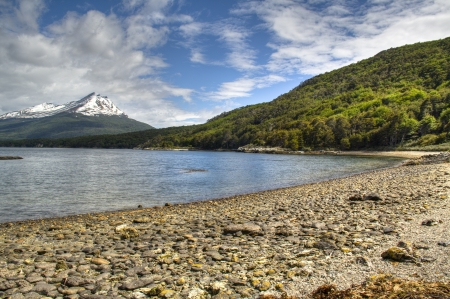 tierra: View over the lake of Tierra del Fuego in Ushuaia, Argentina