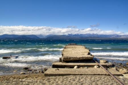 bariloche: View over the Nahuel Huapi lake in Bariloche, Argentina Stock Photo