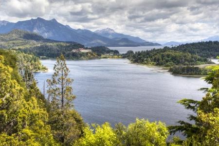 lake nahuel huapi: View over the lakes on Circuito Chico near Bariloche, Argentina