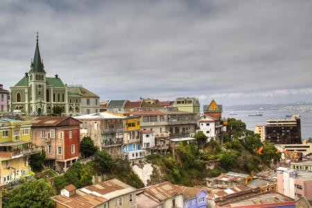 View over cerro Concepcion in Valparaiso, Chile